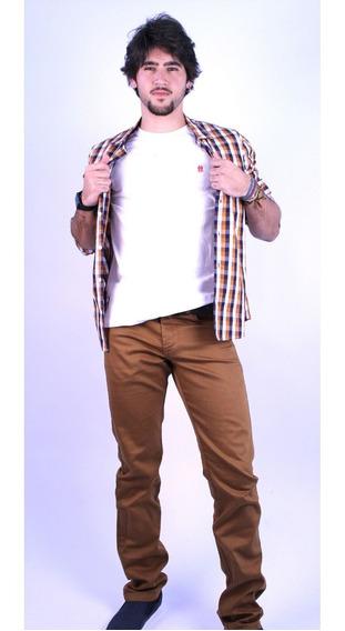 Camisa Social Masculina Ogochi Mostarda 001000082