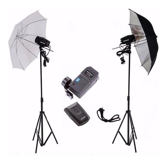 Kit Estúdio Fotográfico Radio Flash 300w Tripé K150 Greika