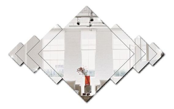 Espelho Abstrato 7 Peças Em Acrílico Decorativo M