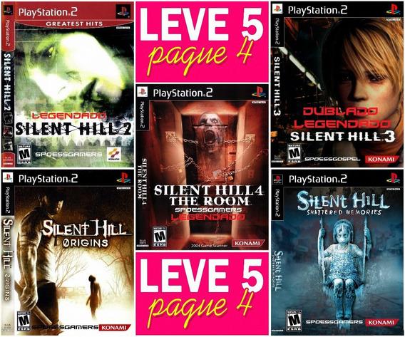 Silent Hill Ps2 Coleção (5 Dvds) Português Patch - Pague 4