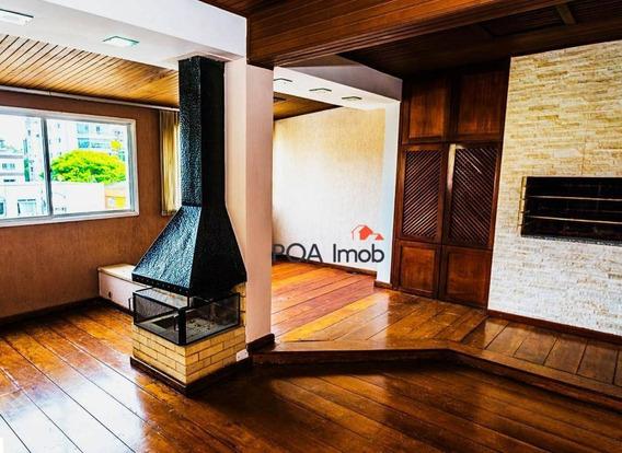 Cobertura Com 2 Dormitórios Para Alugar, 210 M² Por R$ 2.800,00/mês - São João - Porto Alegre/rs - Co0226