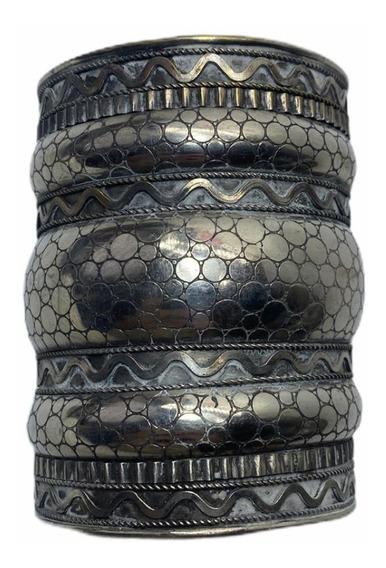Bracelete Indiano De Metal Prateado