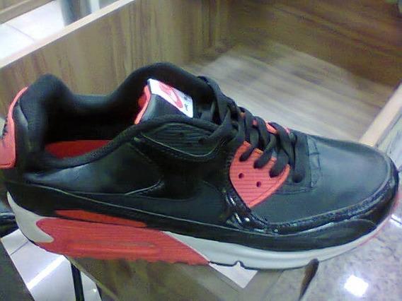 Tenis Nike Air Max 90 Preto E Vermelho Nº41 Original!!!