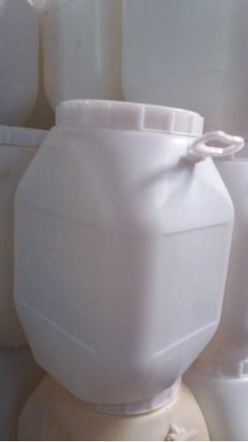 Bidon/envase Plástico 50 Lts Tapa Y 2 Manijas Blanco O Azul
