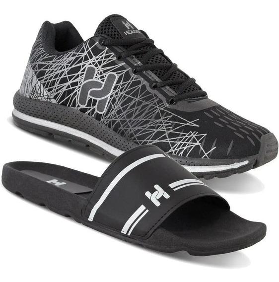 Kit 1 Tenis Masculino Caminhada Leve Spider + 1 Chinelo Top