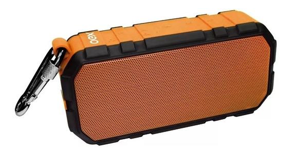 Caixa De Som Brick Bluetooth 20w Laranja Sk406 Bateria Oex