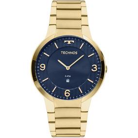 Relógio Technos Masculino Dourado Classic Slim Gl15an/4a