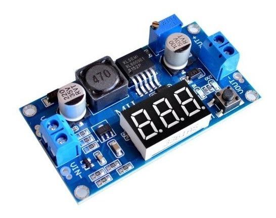 Regulador De Tensão Conversor Lx6009 Dc Dc Step Up Ajustável C/ Display Tensão De Saída 5~52v Dc