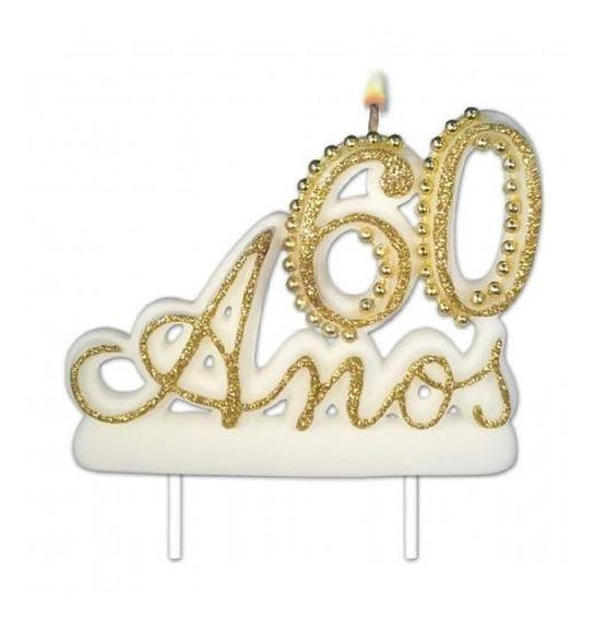 Vela Pavio Mágico Para Festa E Bolo De Aniversário 60 Anos