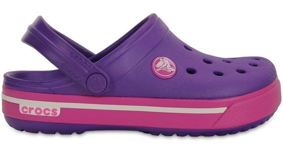 Crocs Kids Crocband Ii.5 Clog Neon Purple/neon Magenta