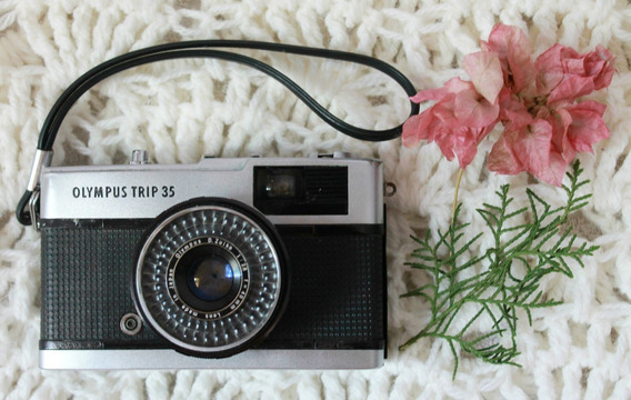 Câmera Analógica Olympus Trip - 35mm Vintage