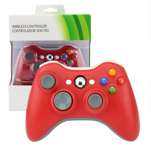 Joystick Inalambrico Xbox 360 Compatible Rojo