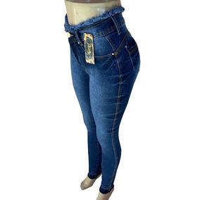 Calça Feminina Jeans Levanta Bumbum Com Lycra Barato
