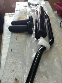 Guidão Alumínio Moto X Mx C/ Barra Medio C/ Manopla Preto
