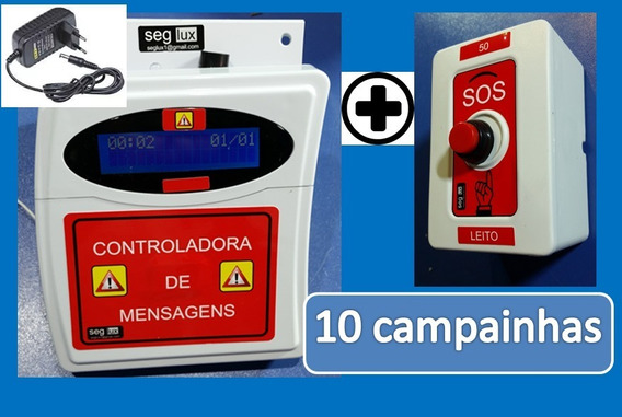 10 Campainha De Alarme Casa Repouso/clinica/enfermaria/asilo