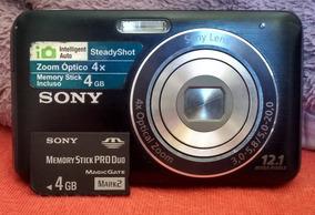 Câmera Digital Sony Cyber-shot Dsc-w310 12.1mp + Cartão 4gb