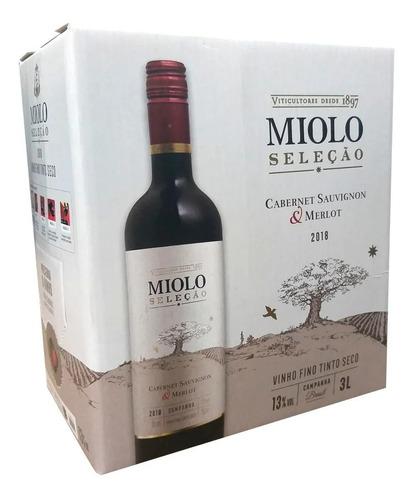Imagem 1 de 3 de Vinho Tinto Miolo Selecão Cabernet Sauvignon Box 3 Ltos
