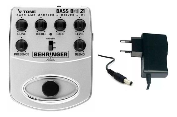 Pedal Behringer V-tone Bdi 21 P/baixo Bdi21 C/ Fonte Brinde