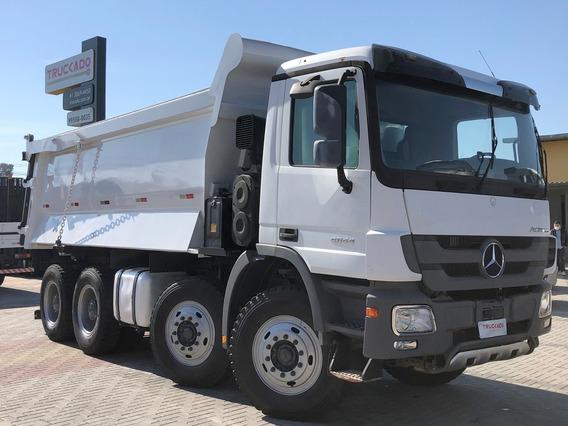 Mercedes Actros 4844 2011 - 8x4 - Caçamba Rossetti 20m³=4448