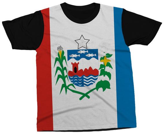 Camiseta Alagoas Estado Brasil Bandeira Símbolo Blusa Camisa