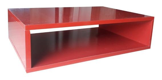 Criado Mudo - Nicho De Parede - 55x15x40cm Mdf Vermelho