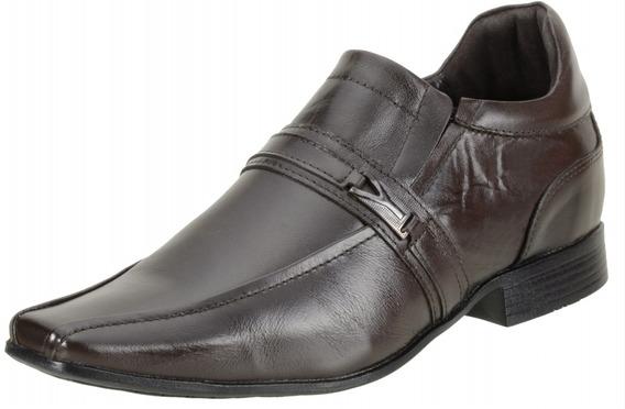 Sapato Masculino Dududias Social 6 Cm + Alto Couro - 6501
