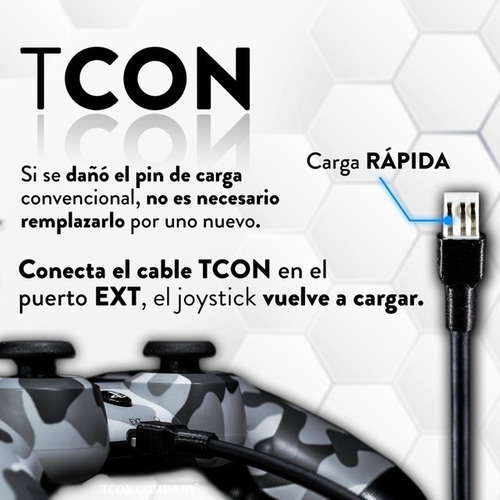Cable Carga Rapida Joystick Playstation 4 Ext Puertoinferior