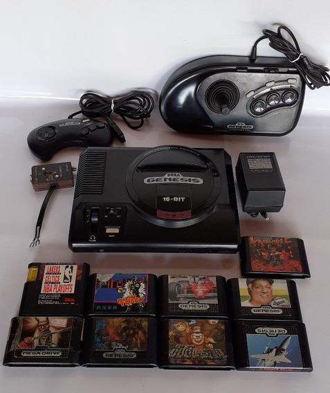 Mega Drive Sena Gênesis 16 Btis + 9 Jogos Videogame