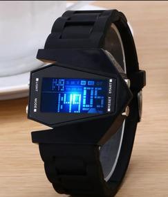 Relógio De Pulso Digital Led Black Light Estilo Matrix