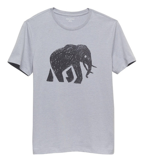 Remera Banana Republic | Graphic Tee | Scribble Elephant Usa