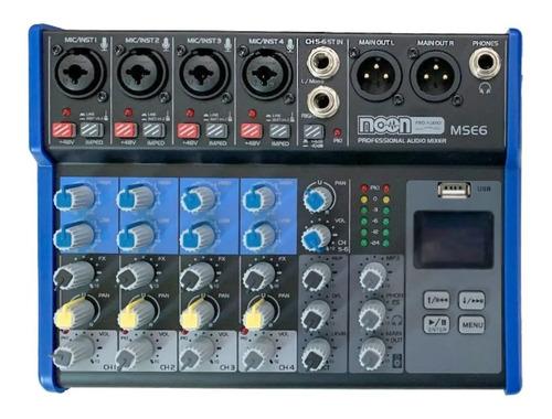 Imagen 1 de 3 de Mixer Moon 6ch Mse6 Interface Usb Grabación Bluetooth