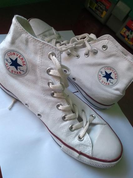 Tênis Converse All Star Branco Cano Alto