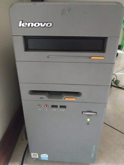 Cpu Lenovo + Monitor Dell + Teclado E Mouse