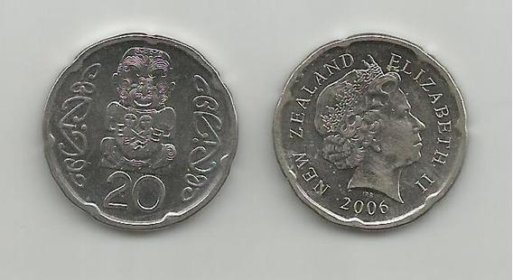 Moneda Nueva Zelanda Escultura 20 C. 2006 Excelente
