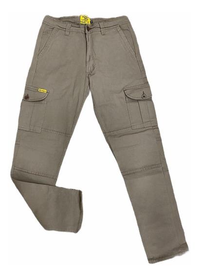 Pantalón Cargo Pampero Elastizado Slim Modelo Híbrido