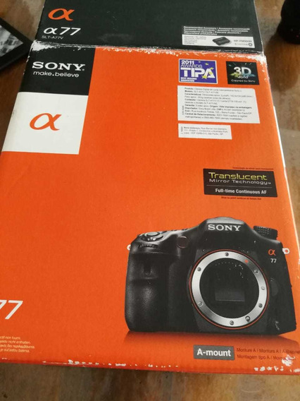 Câmara Sony Alpha 77 Com Lente 50mm