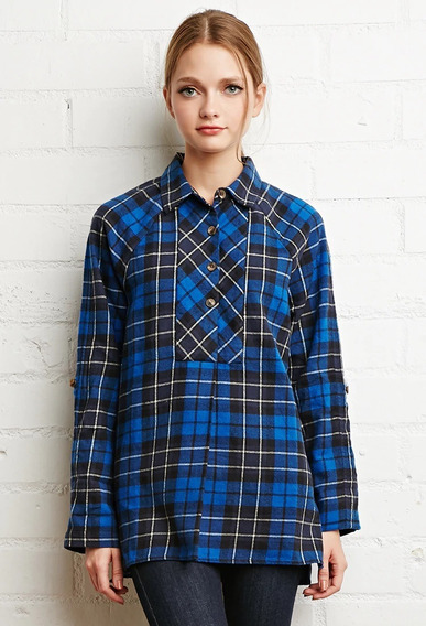 Camisa Forever 21 Flannel Escosesa Talle S De Usa