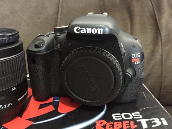 Camera Canon T3i Com Lente 18-55mm . 18mpx Full Hd