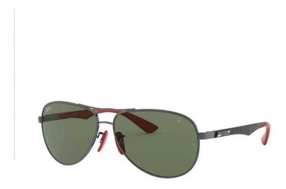 Óculos Sol Ray-ban Scuderia Ferrari- Rb8313m Carbono F009/6