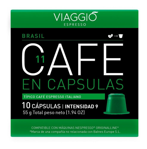 Pack 30 Cápsulas Café Viaggio Brasil Para Nespresso®