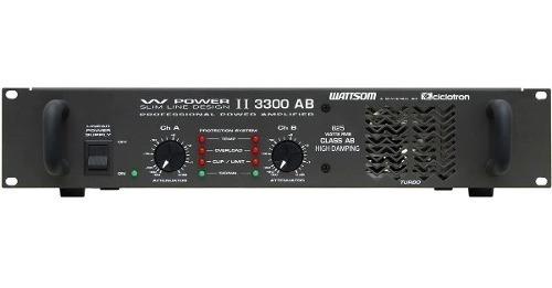 Ciclotron W Power Ii 3300 Ab Amplificador Potencia Prof 825w