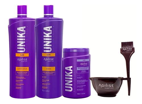 Imagem 1 de 7 de Progressiva Agilise Unika + Shampoo Open + Neutralizante