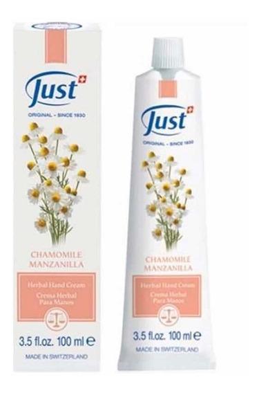 Just - Crema Para Manos Con Manzanilla - 100 Grs