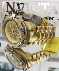 Relógio Invicta 21345 Thunder Bolt Dourado Quartz Ouro 18k