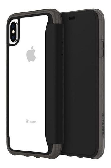 Estuche Funda Para iPhone Xs Max Griffin Survivor Negra Tran