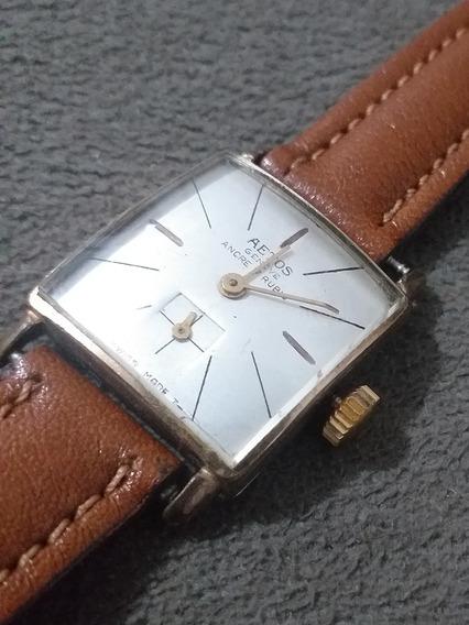 Relógio Suiço Vintage Aetos Geneve 17 Jewels Funcionando