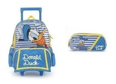 Mochilete Donald +estojo Com 2 Divisão 33182 Original