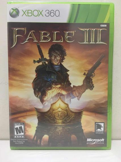 Fable Iii 3 Microsoft Xbox 360 Novo Lacrado