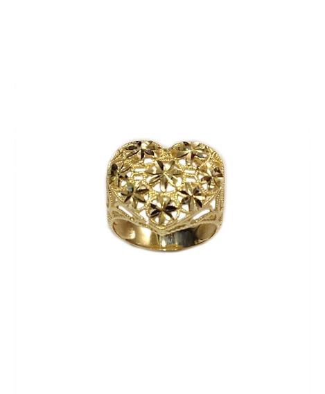 Anel Coração Diamantado Ouro 18k