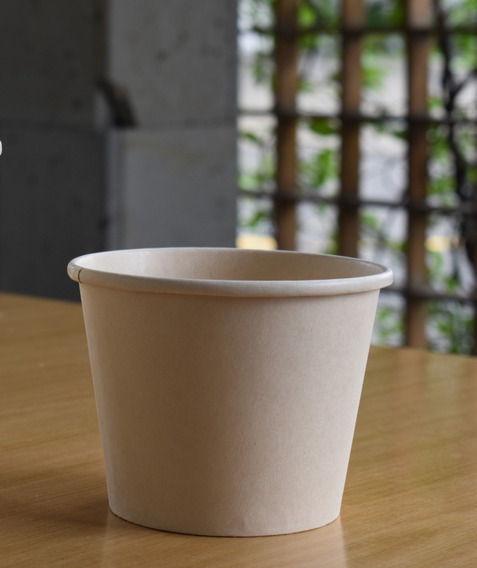 Envase Medio Litro Bambú 100% Compostable | 500 Piezas